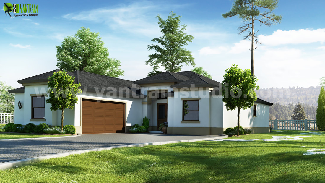 Residential 3d exterior rendering designs