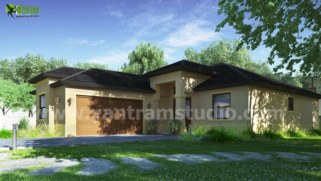 3d House exterior rendering service